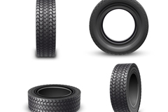 Link to4 beautiful rubber tyre vector diagrams
