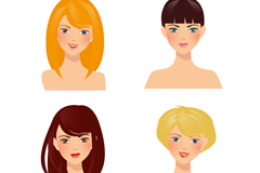 Link to4 beautiful women avatars vector diagrams