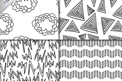 Link to4 black and white line seamless vector background