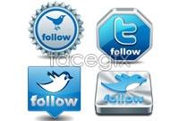 Link to4 blue bird vector icon