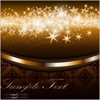 Link to4 bright starlight background vector