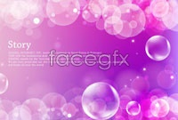 Link to4 bubble background vector
