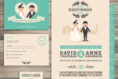 Link to4 card wedding card vector