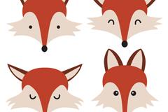 Link to4 cartoon fox head vector