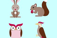 Link to4, cartoon jungle animals vector