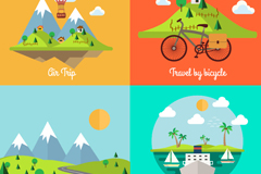Link to4 cartoon landscape design vector graph