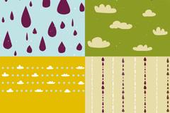 Link to4 children's fun retro pattern background vector