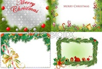 Link to4 christmas border element vector