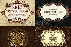 Link to4 classic lace pattern vector
