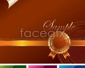 Link to4-color corner backgrounds and ornate decorations vector