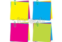 Link to4 color notes note vector