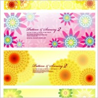 Link to4 colorful flowers vector background