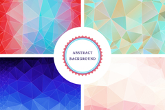 Link to4-colour geometric background vector