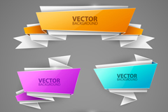 Link to4-colour origami banner vector