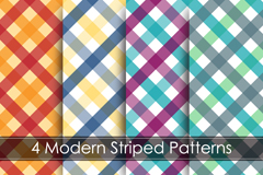 Link to4-colour plaid background vector
