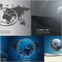 Link to4 commercial business background vector