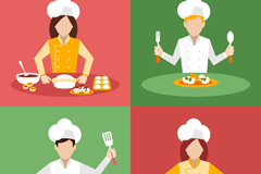 4 cooking chef vector