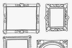 Link to4 creative black frame vector