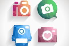 4 creative camera app icon vector
