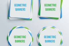 4 creative geometric background banner vector