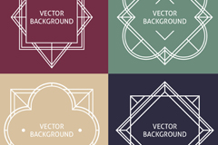 Link to4 creative white border background vector