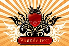 Link to4 current crown shield decoration patterns vector