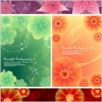Link to4 dynamic flower background vector dream
