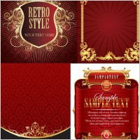 Link to4 european gold lace pattern vector