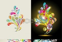 Link to4 flow pattern background vector map
