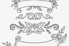 Link to4 flower lace ribbon design vector