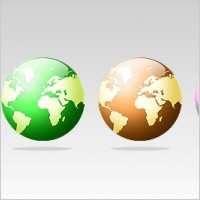 Link to4 free globe icons