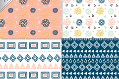 Link to4 fresh pattern background vector