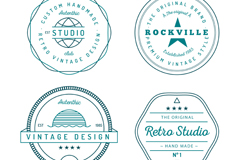 Link to4 green artifact labels vector