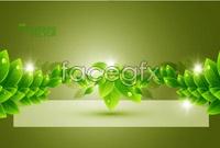 4 green leaf plants background vector
