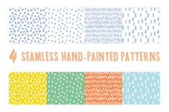 Link to4 hand-painted lovely seamless vector background