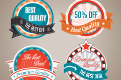 Link to4 high quality discount tag vector