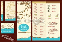 Link to4 japan restaurant menu design vector graphic