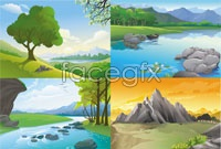 Link to4 landscape vector map