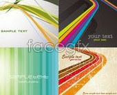 Link to4 lines background vector tools