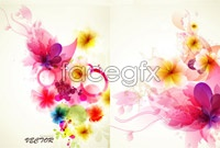 Link to4 multicolour flower vector map