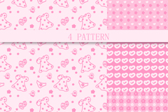 Link to4 pink patterned background vector