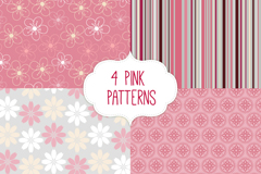 Link to4 pink seamless background vector