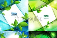 Link to4 plant vine background vector map