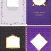 Link to4 purple pattern card template vector