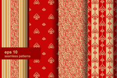 Link to4 red seamless background pattern vector