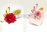 Link to4 rose flower ornaments vector map