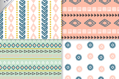 Link to4 simple but elegant pattern background vector