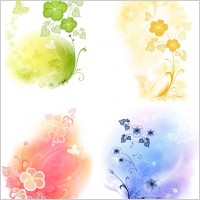 Link to4 soft background pattern vector