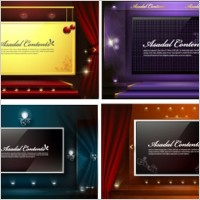 Link to4 stage background vector