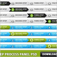 Link to4 step process panel free psd